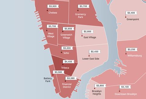 Maps Show The Totally Insane Rents In Nyc Neighborhoods Thrillist