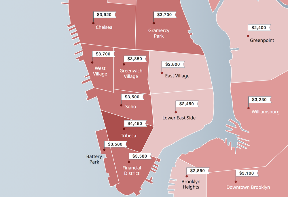 Maps Show the TotallyInsane Rents in NYC Neighborhoods Thrillist