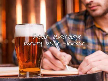 beer snob letter