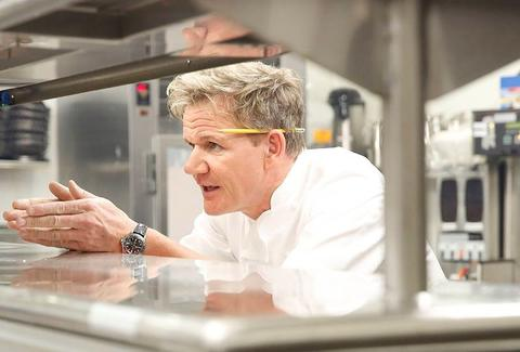 Gordon Ramsay in kitchen