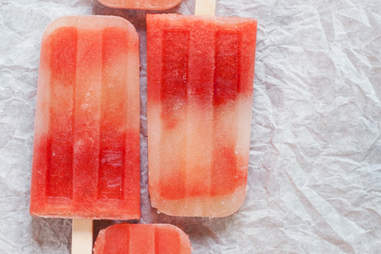 Watermelon mint tequila popsicles