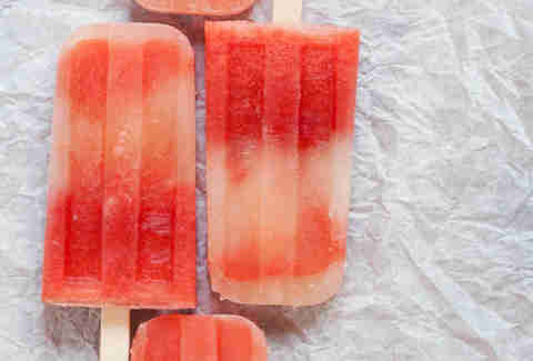 Watermelon mint tequila popsicles