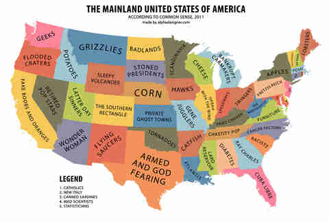 funny map of US