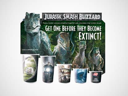 Dairy Queen Jurassic Park cups
