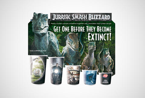Dairy Queen Jurassic Park cups