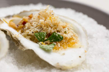 Pearl Dive Oyster Palace's Grilled Oysters with Red Chile Butter and Gremolata — Thrillist Recipes