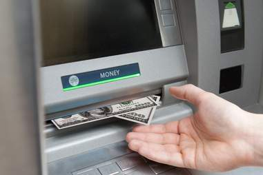 Cash coming out of ATM