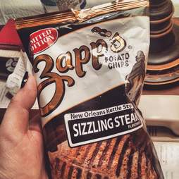 Zapp's Sizzling Steak chips