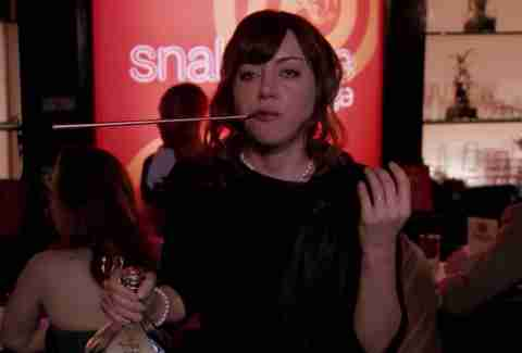 April Ludgate as Janet Snakehole at The Snakehole Lounge