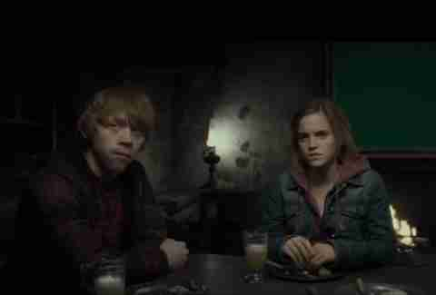 Ron and Hermione in Hog's Head
