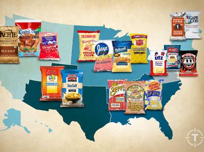 Regional potato chip map