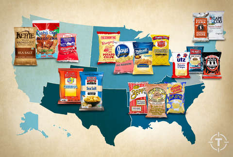 Regional potato chip map