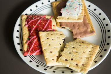Pop-Tarts on plate