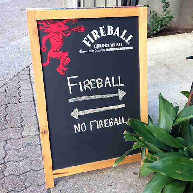 Fireball sign