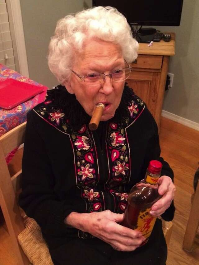 Kevin McDermott grandma with Fireball