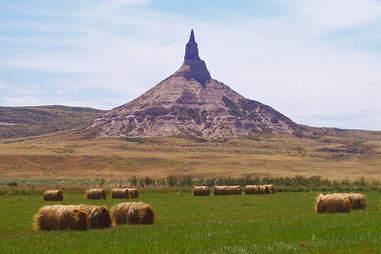 Strangely shaped mountain