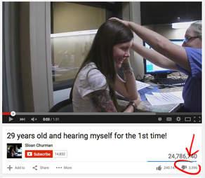 deaf woman hearing