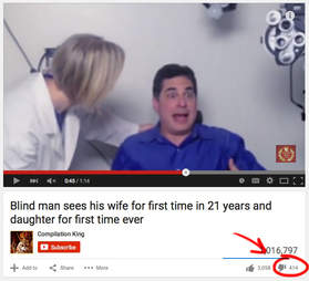 guy seeing for the first time