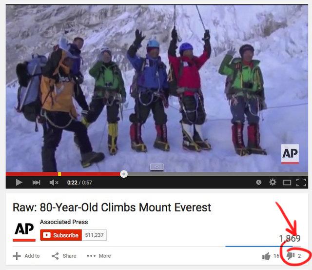 old man climbs Everest