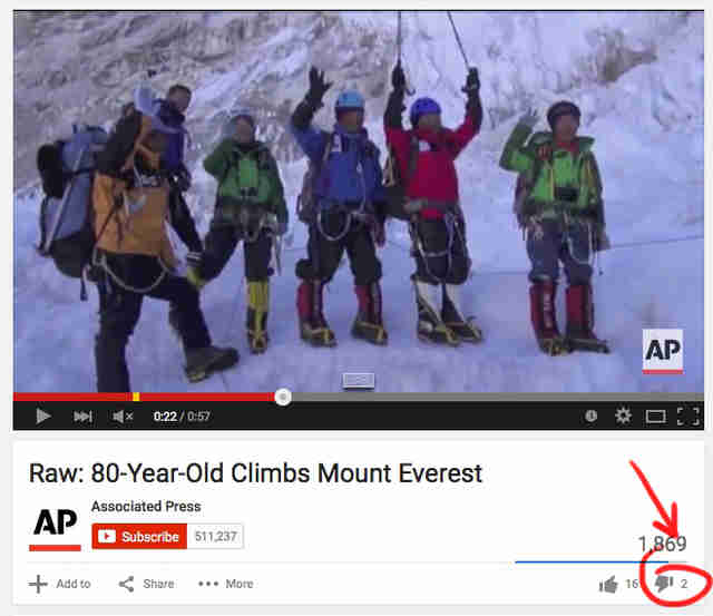 old man climbs Everest