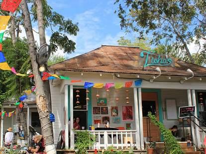 exterior of Licha's Cantina Mexican food Austin