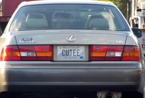 funny vanity plates - customized license plates - thrillist