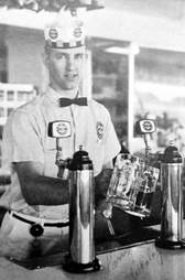 A&W soda jerk