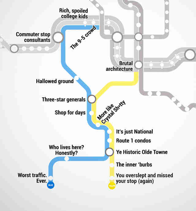 Real Dc Subway Map.Judgmental Washington Dc Metro Map Thrillist