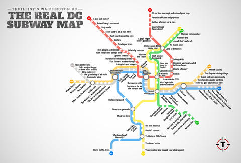 Judgmental Washington DC Metro Map Thrillist