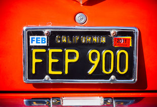 California's Iconic Black License Plate Is Back