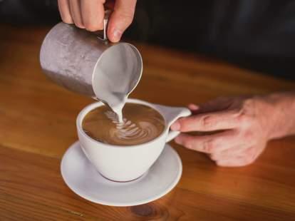 Latte at BREW in Miami