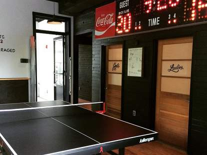 victory sandwich bar ping pong table