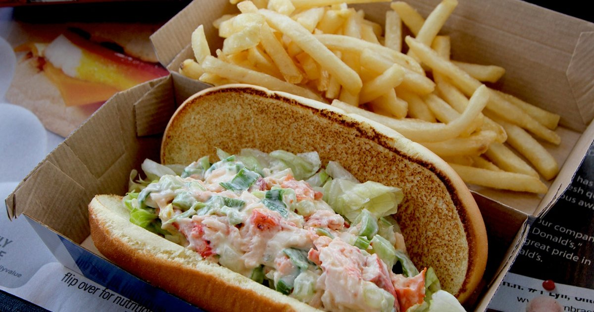 McLobster Roll Is Back at New England McDonald's Locations - Thrillist
