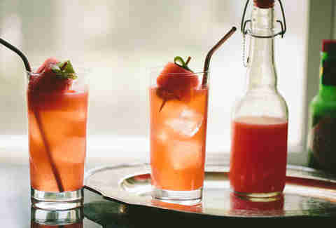 Watermelon Shrub Spritzer