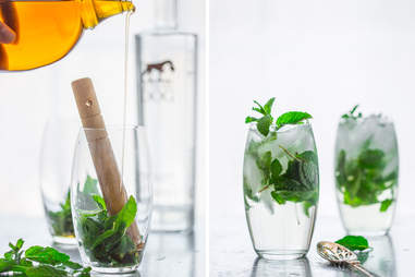 Maple Mint Vodka Spritzer