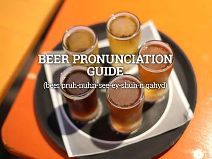 sampler tray of beer