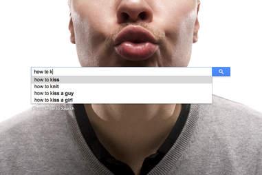 man kissing