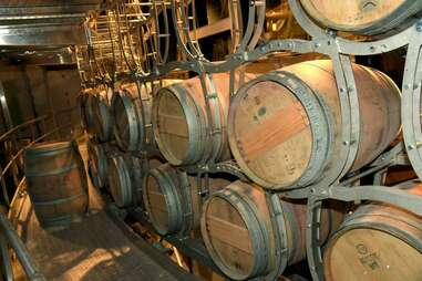 wooden barrels at City Winery