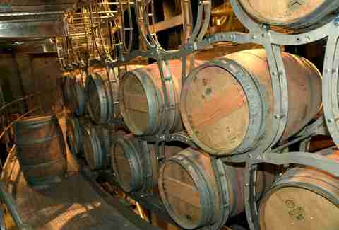 wooden barrels at City Winery