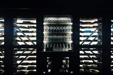 wine cooler with bottles at Union Common