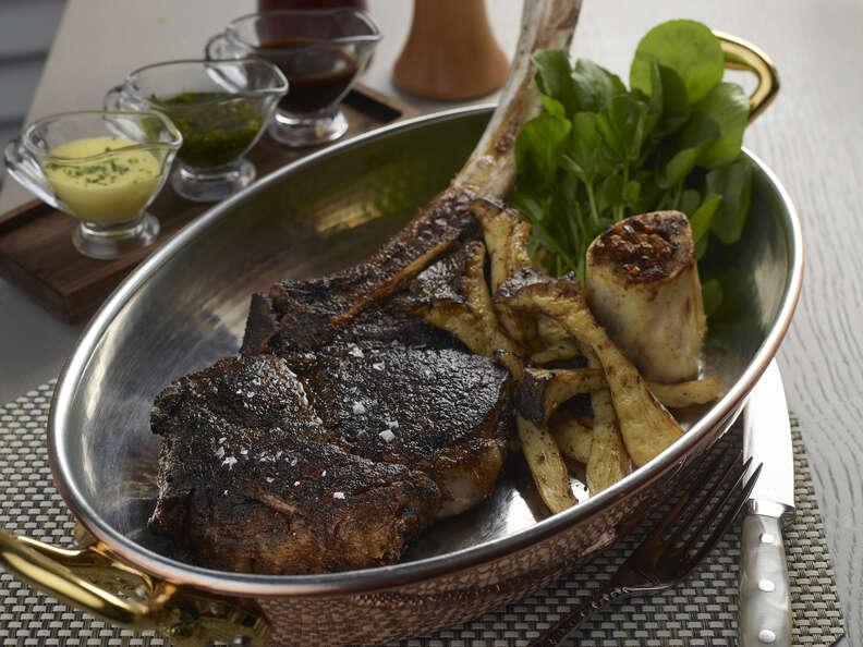 Andiron Steak & Sea, steak dinner