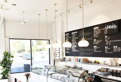Artisanal ice cream at Jeni's in Los Feliz