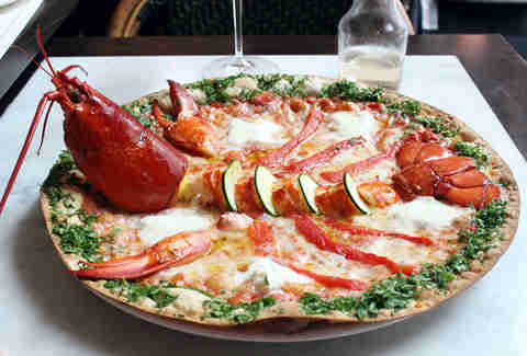 Whole Lobster Pizza at Florian NYC - Dude You Gotta Eat ...