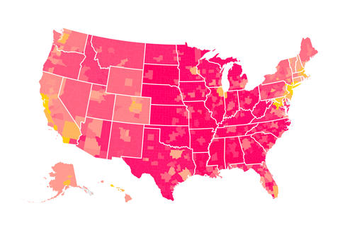 Cost Of Living Map Purchasing Power Of In Every Major US - Us cost of living map