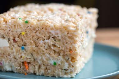Funfetti Rice Krispies -- Thrillist Recipes