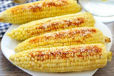 corn on the cob with chipotle paremesan