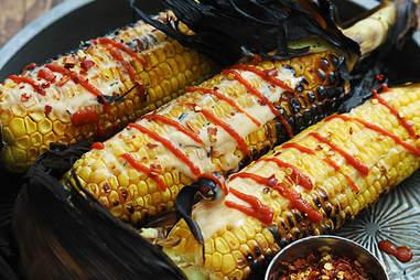 Corn on the cob with Sriracha recipe