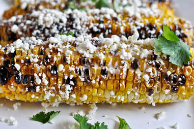 Grilled corn with bacon butter and cotija cheese recipe