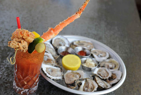 liberty kitchen bloody mary and oysters