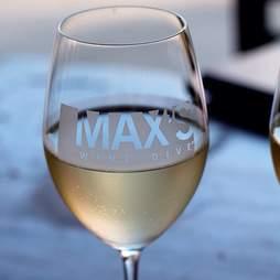 glass of white wine at Max's wine dive